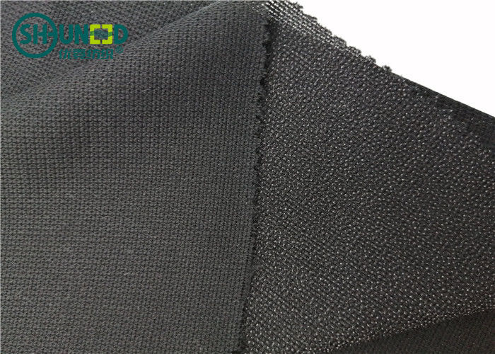 100% Polyester Mesh New Warp Knit Woven Fusible Interlining Fabric For Suit Uniform Clothing