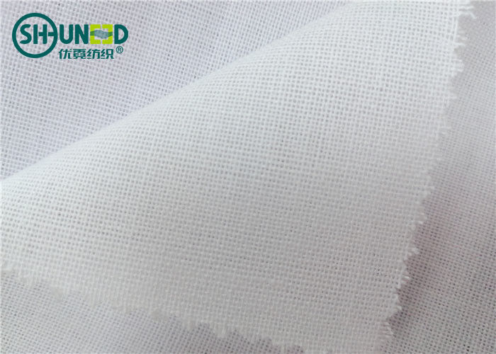 Soft Fusible Interlining Woven Interlining Adhesive 120gsm PES / LDPE Fusing